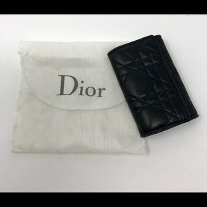 UNISEX Dior Black Quilted Leather Key Case
